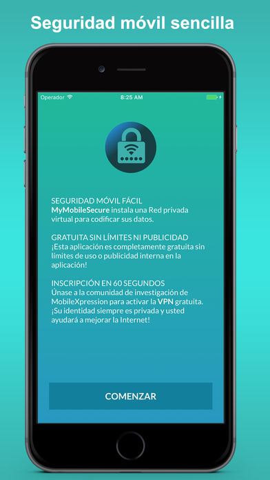 Clave MyMobileSecure para iPhone